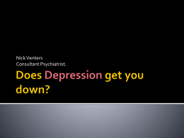 Does Depression still get you down?