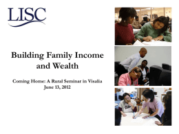 Building Family Income and Wealth
