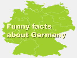 Funny facts about Germany