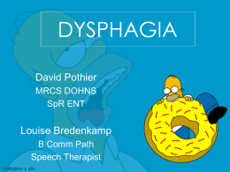 DYSPHAGIA - ENT for medical students