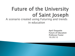 Future of the University of Saint Joseph