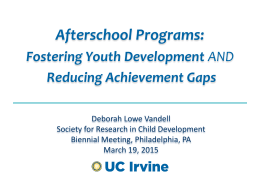 California Afterschool Outcome Measures Project