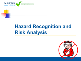Hazard Recogniton and Risk Analysis Training