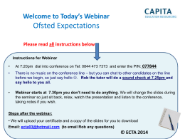 Ofsted Expectations - Diane Kate Consulting