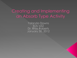 Creating and Implementing an Absorb Type Activity