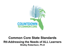 Common Core Summer Institute - Okaloosa County School District