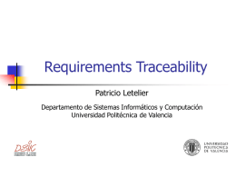 Requirements Traceability in a UML based Development