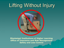 Lifting and Your Back - Mississippi Public Universities