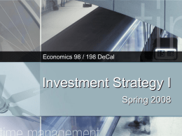 Investment Strategy I - Open Computing Facility