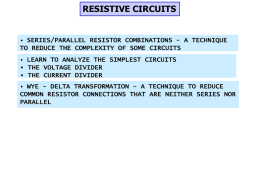 Series/Parallel Resistor Reduction