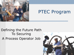 PTEC Programs - North American Process Technology Alliance