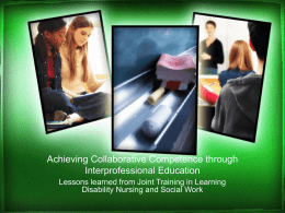 Achieving Collaborative Competence through
