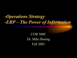 ERP – The Power of Information