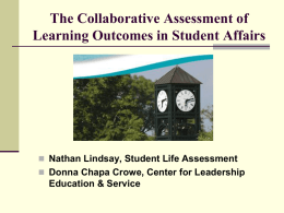 Student Life Assessment Strategic Initiatives
