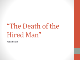 The Death of the Hired Man
