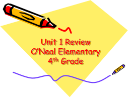 Reading First Unit 1 Review