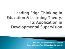 Developmental Supervision: An Introduction