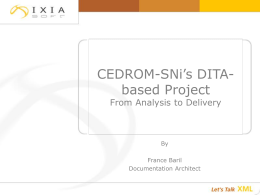 CEDROM-SNi's DITA-based project creation