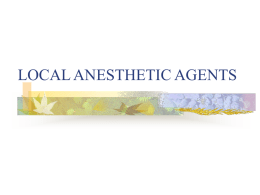 /local anesthesia