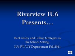 West Park Rehab and Riverview IU6 Presents…