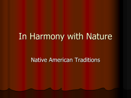 In Harmony with Nature - Scripps Ranch High School