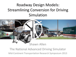 Roadway Design Models: Streamlining Conversion for Driving