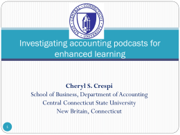 Investigating accounting podcasts for enhanced learning