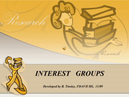 INTEREST GROUPS - Willis High School