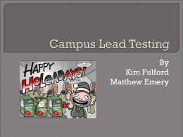 Campus Lead Testing - Indiana University Bloomington