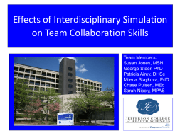 Effects of Interdisciplinary Simulation on Team Collaboration