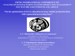 "4th AEGEAN INTERNATIONAL CONFERENCE ON ""ANALYSIS OF"