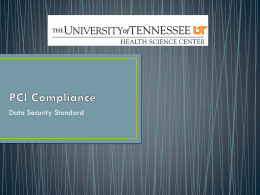 PCI Compliance - The University of Tennessee Health
