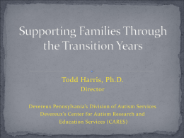 Supporting Families Through the Transition Years