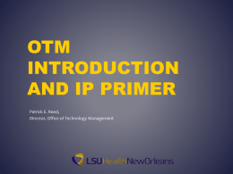 OTM Introduction and IP Primer