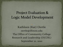 Project Evaluation & Logic Model Development
