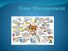 Title Time Management - Oregon State University