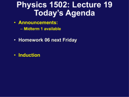 Phys132 Lecture 5 - University of Connecticut
