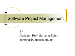 Software Project Management - University of Engineering