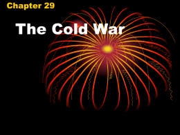 The Cold War - Pleasanton Unified School District