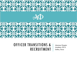 OfficeR Transitions & Recruitment