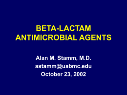 Beta-lactam Antimicrobial Agents