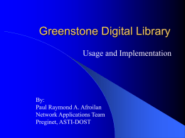 Greenstone Digital Library - PKU: Search Engine and Web