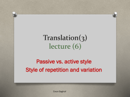 Translation(3) lecture (6)