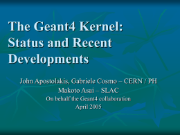 The Geant4 Geometry Modeler