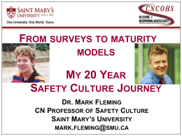 Safety Culture Maturity - International Rail Safety