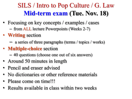 SILS / Intro to Pop Culture / G. Law Mid