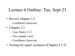 Lecture 6 Outline: Tue, Sept 23