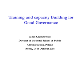 Ethics of the Corps of Civil Service in Poland