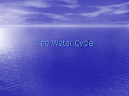 The Water Cycle - Pasco School District / Overview