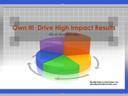 Own It! Drive High Impact Results